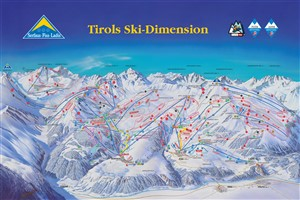 Tirols Ski dimension pistekaart 2017 2018 300 x 200