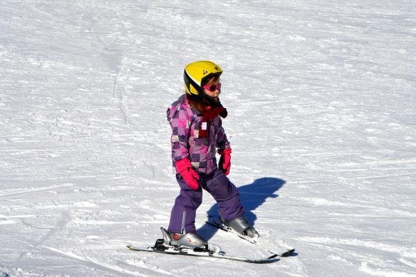 Met de kinderen in de sneeuw