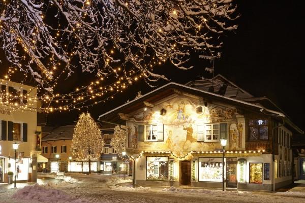 Garmisch Partenkirchen winteravond