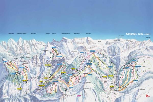 Adelboden - Lenk pistekaart