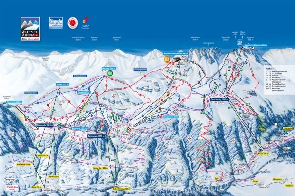Aletsch Arena pistekaart