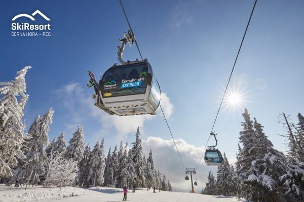 Cerna Hora - Pec gondellift in skigebied