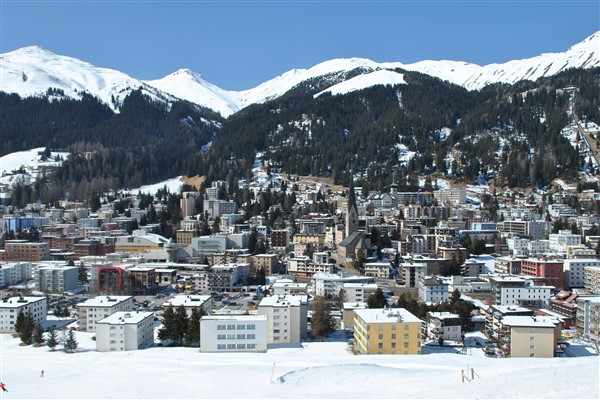 Davos dorp winter