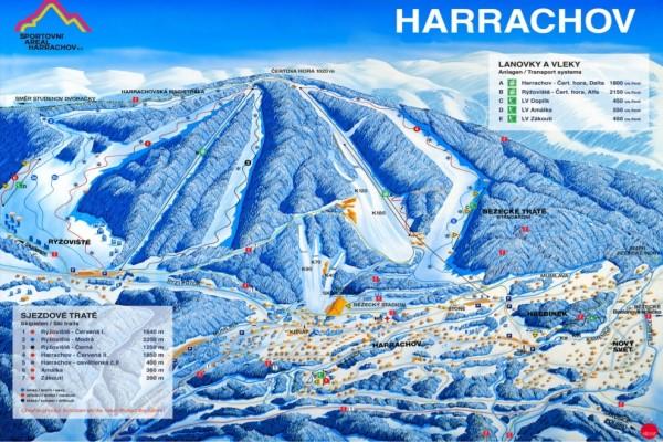 Harrachov pistekaart