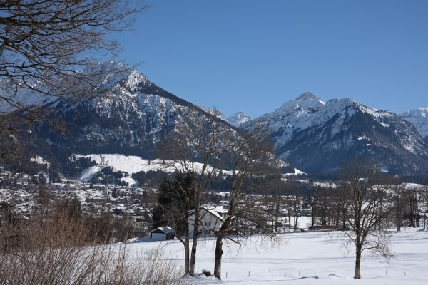 Oberstdorf winter dorp