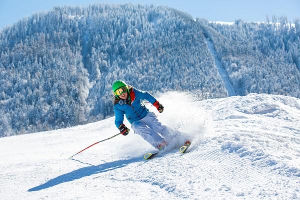 Ruhpolding skiër op de Unternberg