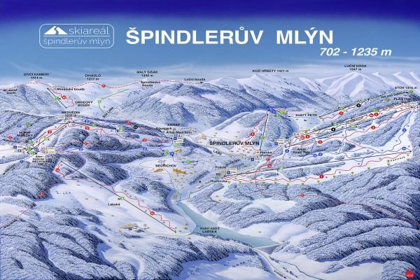 Spindleruv Mlyn pistekaart