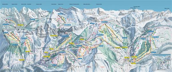 Adelboden - Lenk pistekaart 2019 - 2020