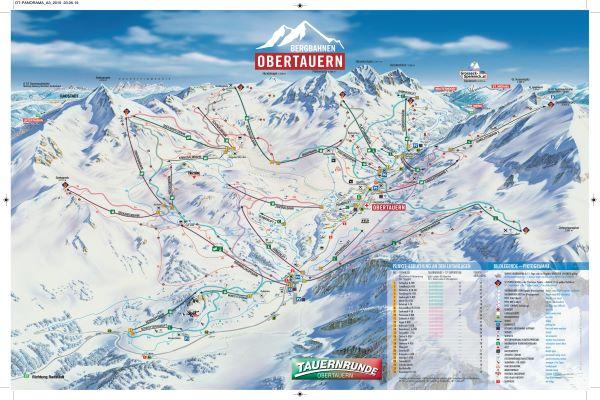 Obertauern pistekaart skigebied © Liftgemeinschaft Obertauern GmbH