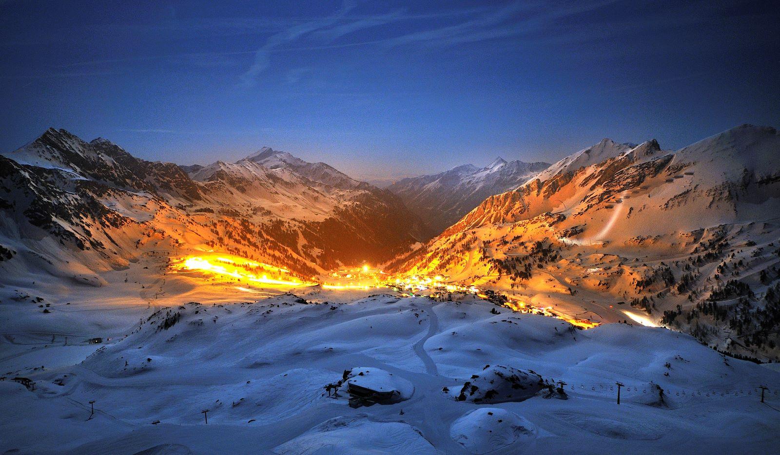 Obertauern avondskiën dorp © Tourismusverband Obertauern