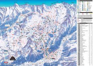 Paznauntal pistekaart skigebied Ischgl - Samnaun © Silvretta Arena - TVB Paznaun - Ischgl