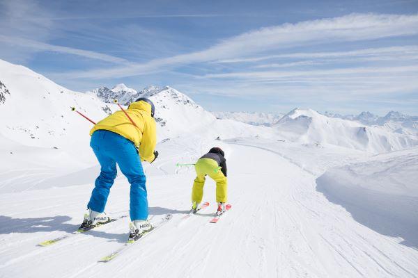 Serfaus-Fiss-Ladis familieafdaling in skigebied © Andreas Kirschner - www.serfaus-fiss-ladis