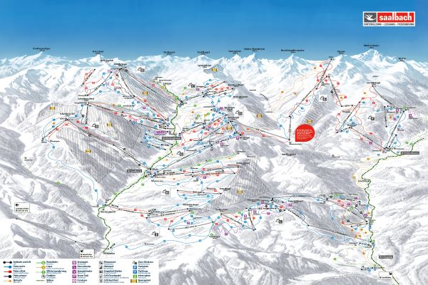 Skicircus pistekaart 2019-2020 © saalbach.com
