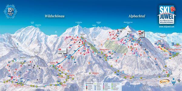 SkiJuwel Alpbachtal - Wildschönautal pistekaart © www.skijuwel.com